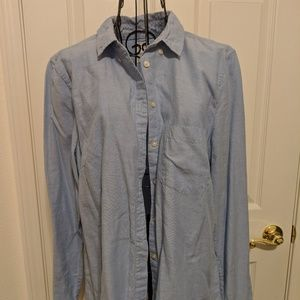 Gap blue button up dress shirt
